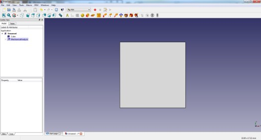 FreeCad 0.16 FEM Toolbar