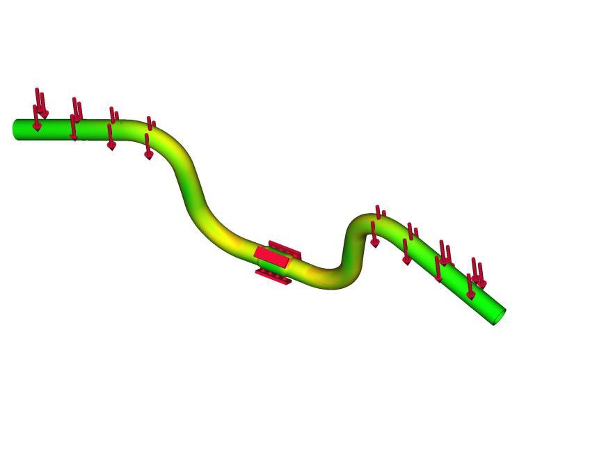Brompton bike handlebar boundary conditions FreeCAD model & Gmsh & CalculiX