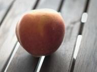 Light, form, shape, texture and a peach