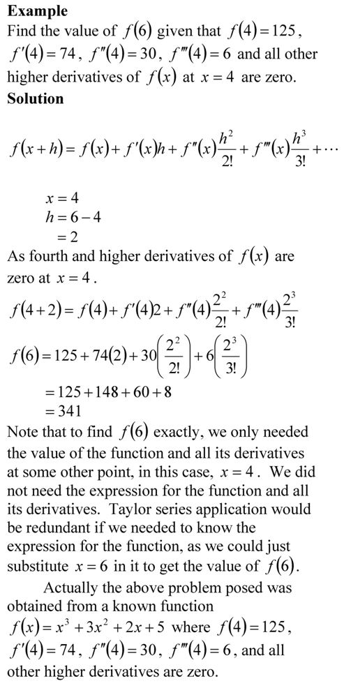 Taylor Series Example The Numerical Methods Guy