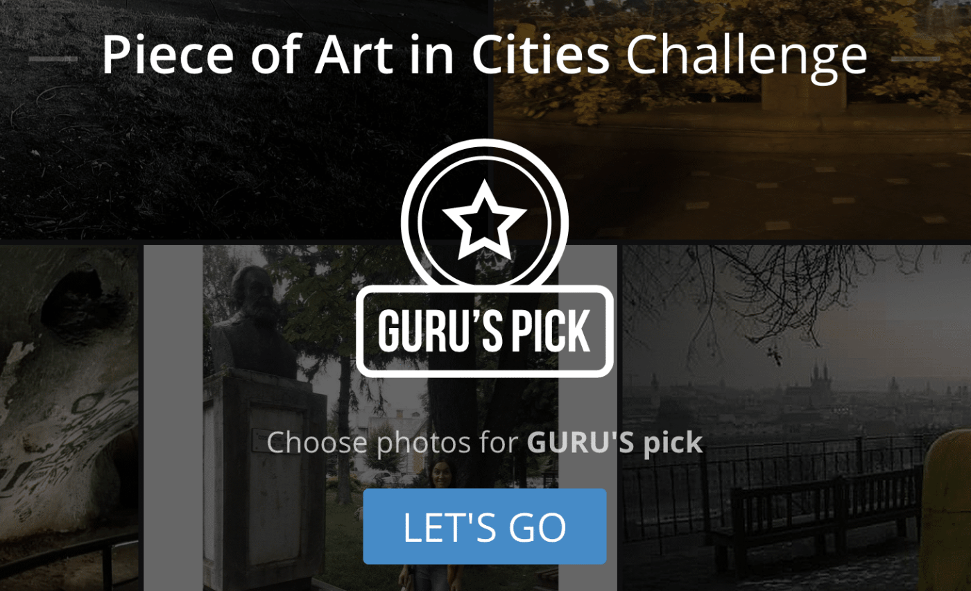 Choosing photos for Guru's Pick