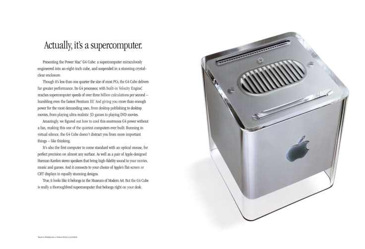 Apple's PowerMac G3 Cube - Source: Apple.