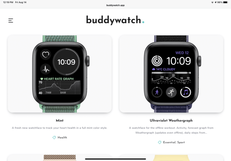 Buddywatch watch face sharing site