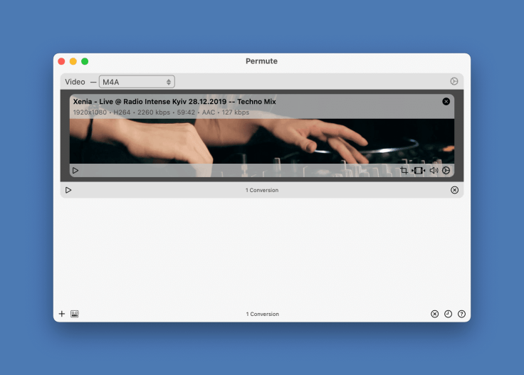 Using Permute to extract the audio track from a YouTube video