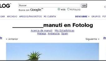 Colocar el título del FOTOLOG.COM más a la derecha.