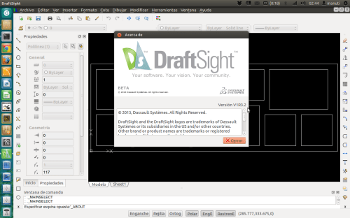 draftsight V1R3.2 ubuntu 64 bits 12.04