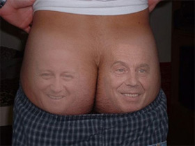 Two cheeks of the same arse
