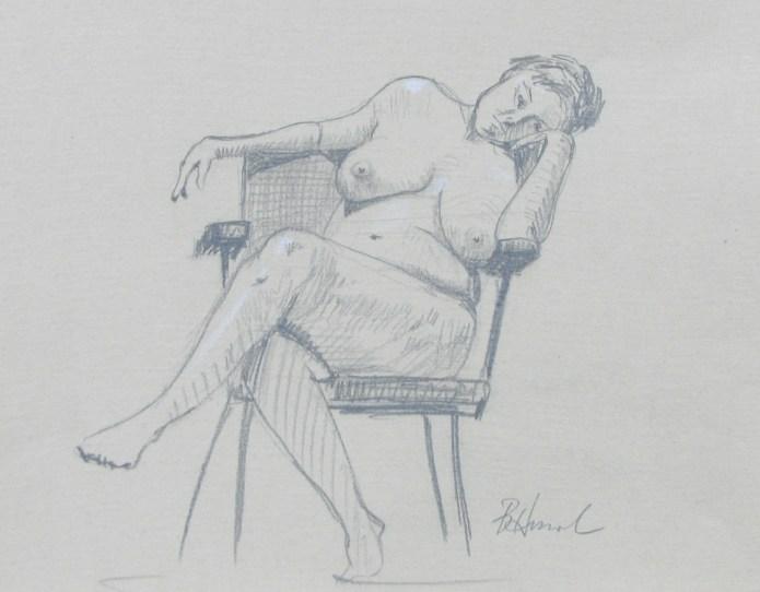 bored nude model