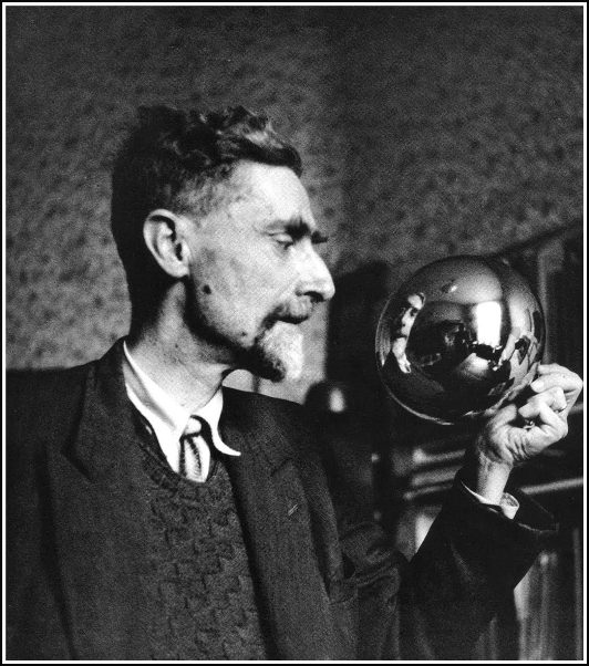Maurits-Escher-Self-Portrait-in-a-Globe-1