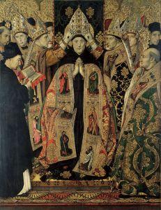 Augustine -Jaume_Huguet_Consecration_of_Saint_Augustine