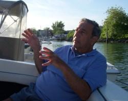 Jimmy in boat again