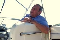 Jimmy in boat