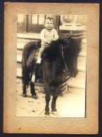 Jimmy on a pony. His love of animals began early.