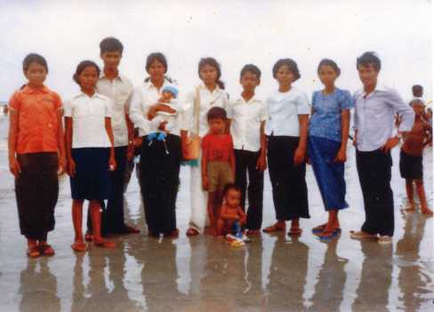 Family 1980 in refugee camp in Thailand