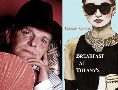truman-capote-breakfast-at-tiffanys collage
