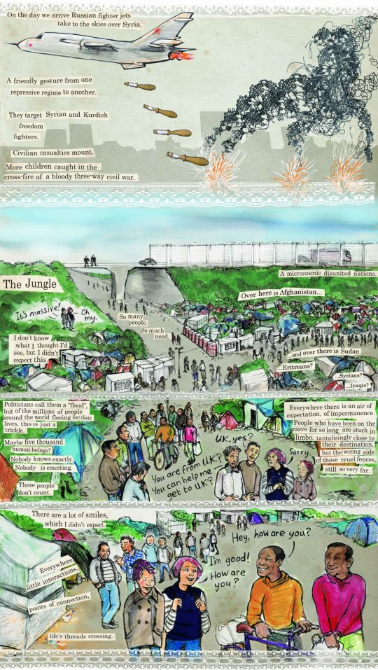 threads from the calais refugee crisis graphic essay kate threads from the calais refugee crisis graphic essay kate evans