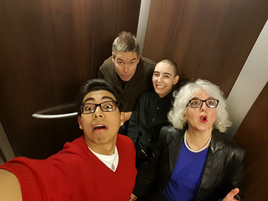 roberta-levine-and-family-caught-in-elevator
