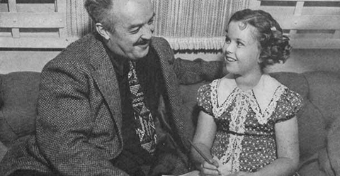J P McEvoy with Shirley Temple