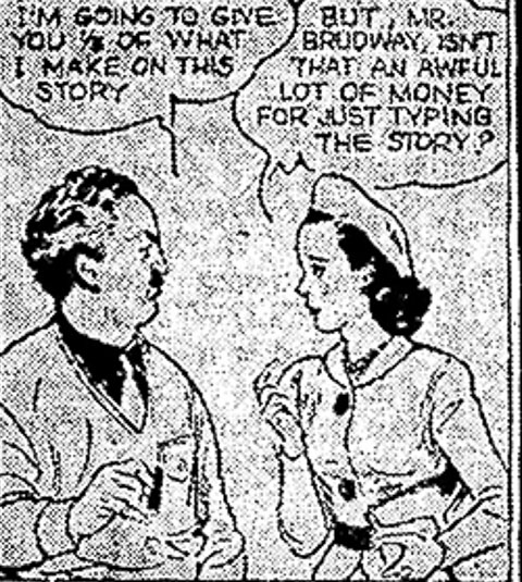 J P McEvoy in Dixie Dugan comic strip