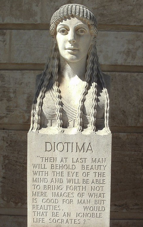 Statue of Diotima at University of Western Australia