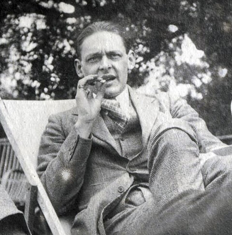 T. S. Eliot in 1923 via Wikimedia Commons