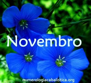 novembro Numerologia Cabalística