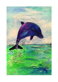 Dolphin print by Greer Jonas