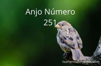 Significado e significado do anjo número 251