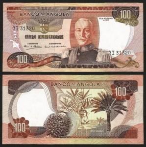 ANGOLA (20) - 100 ESCUDOS 'Mar. Carmona' (1972) Q/NOVA +++++ VENDIDA +++++ 2