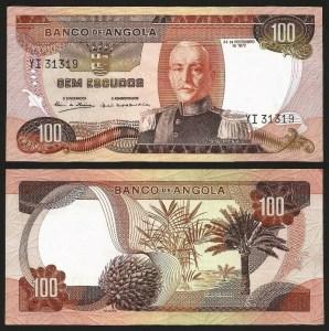 ANGOLA (20) - 100 ESCUDOS 'Mar. Carmona' (1972) Q/NOVA +++++ VENDIDA +++++ 1