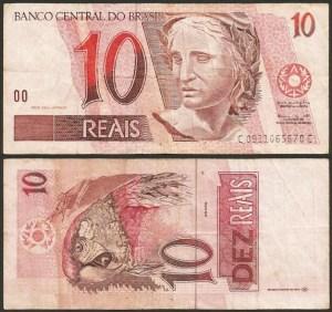 BRASIL .n245 (BRAZIL) - 10 REAIS (1997-) CIRC.