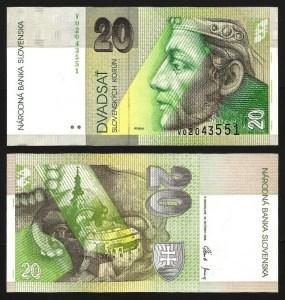 ESLOVÁQUIA .n20 (SLOVAKIA) - 20 KORUN (2001) NOVA +++++ VENDIDA +++++ 1