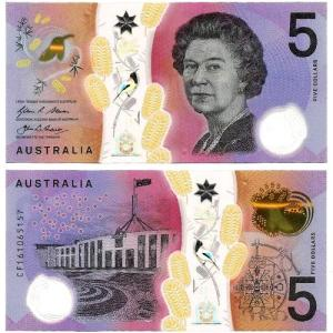AUSTRÁLIA .nv1 - 5 DOLLARS (2016) NOVA +++++ VENDIDA +++++