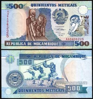 MOÇAMBIQUE .n134 (MOZAMBIQUE) - 500 METICAIS (1991) NOVA +++++ VENDIDA +++++
