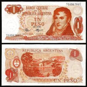ARGENTINA .n287 - 1 PESO (1970/73) NOVA +++++ VENDIDA +++++