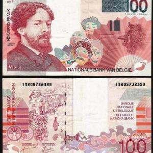 BÉLGICA .n139 (BELGIUM) - 50 FRANCOS 'King Baudoin James Ensor' (1995/2001) CIRC. (Cópia)