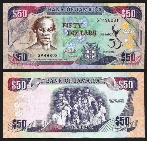 JAMAICA .n83y - 50 DOLLARS CMM (2012) NOVA +++++ VENDIDA +++++