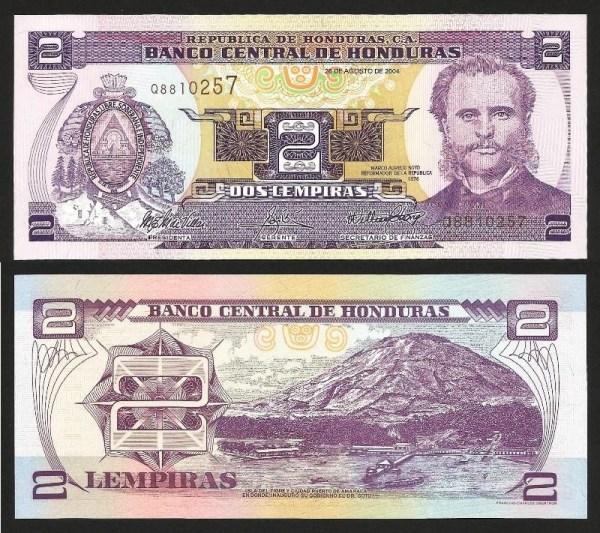 HONDURAS .n84y - 2 LEMPIRAS (2003) NOVA