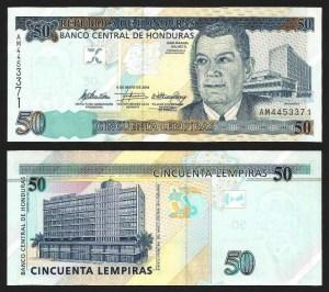 HONDURAS .n94 - 50 LEMPIRAS (2004) NOVA +++++ VENDIDA +++++