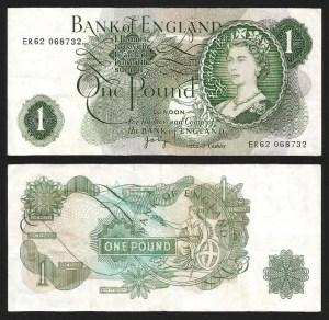 INGLATERRA .n374 (GREAT BRITAIN) - 1 LIBRA 'Elisabeth II' (1970/77) CIRC. +++++ VENDIDA +++++ 1