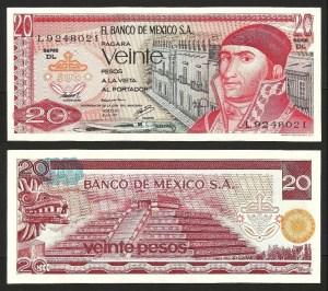 MÉXICO .n064 - 20 PESOS (1977) BELA... Esc. +++++ VENDIDA +++++ 1