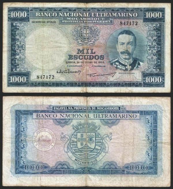 MOÇAMBIQUE (58) - 1.000 ESCUDOS 'Mouzinho Albuquerque' (31.07.1953) CIRC… Esc