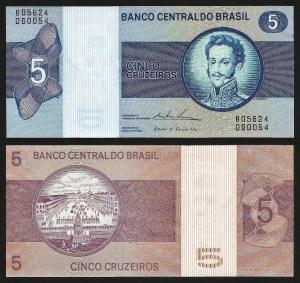 BRASIL .n192c (BRAZIL) - 5 CRUZEIROS (1974) NOVA
