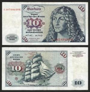 ALEMANHA FEDERAL / RFA .n31a (GERMANY FED. REP.) - 10 MARCOS (1970) CIRC... Esc.