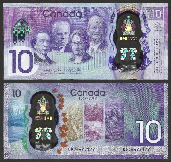 CANADÁ .n112 - 10 DOLLARS CMM (2017) NOVA