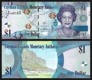 ILHAS CAIMÃO .38d (CAYMON ISLANDS) - 1 DOLLAR (2014) NOVA