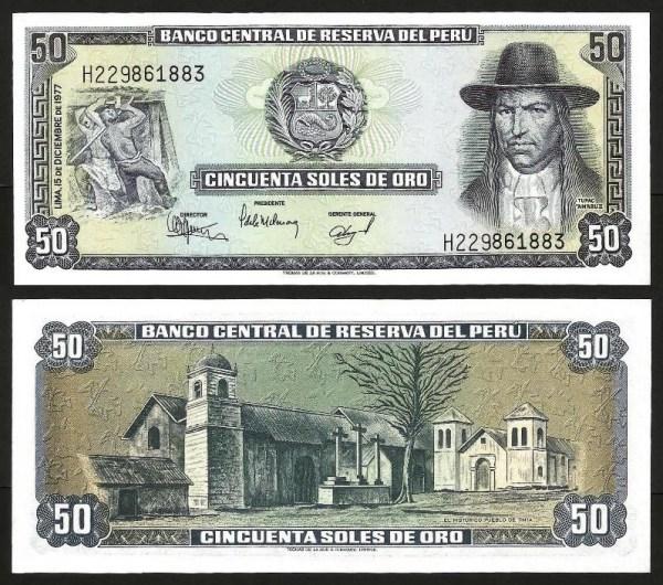 PERÚ .n113 - 50 SOLES DE OURO (1977) NOVA