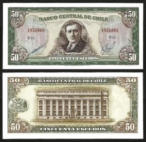 CHILE .n140b - 50 ESCUDOS (1962/75) NOVA