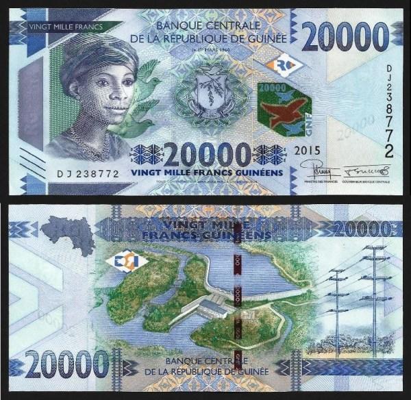 GUINÉ-CONACRY .n51 (GUINEA) - 20.000 FRANCOS (2015) NOVA