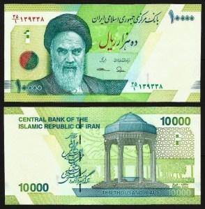 IRÃO .n159 (IRAN) - 10.000 RIALS 'Khomeini'  (2017) NOVA